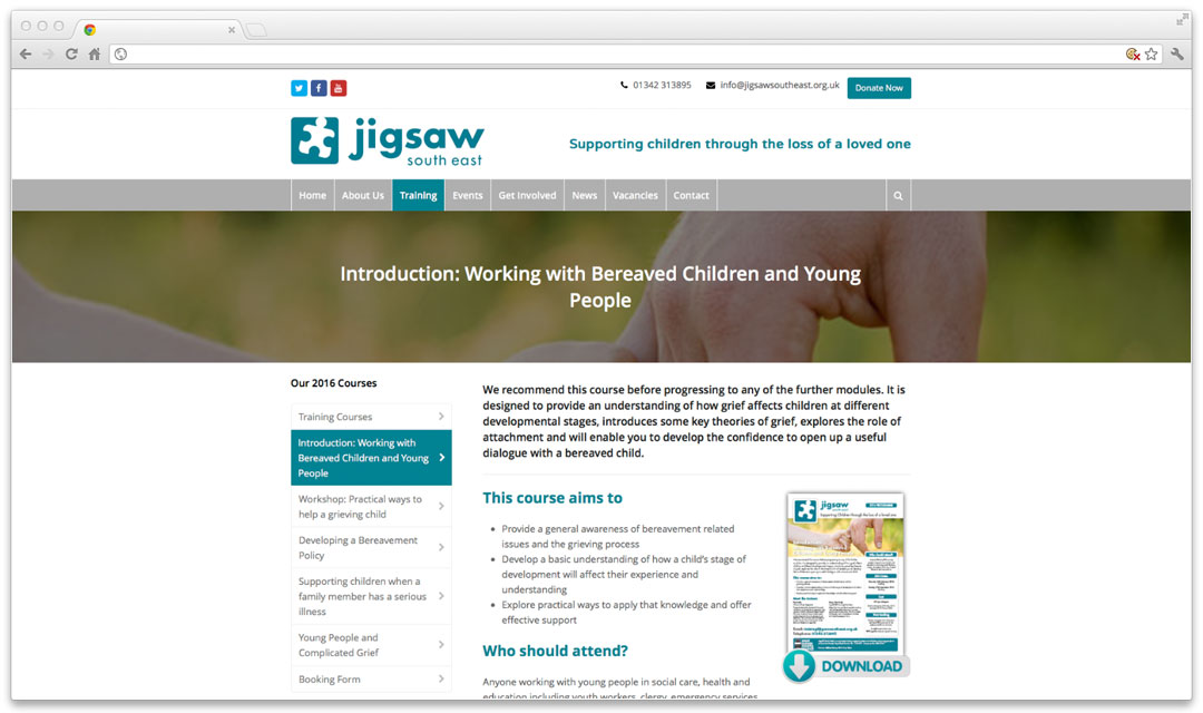 Jigsaw Southeast Website Browser